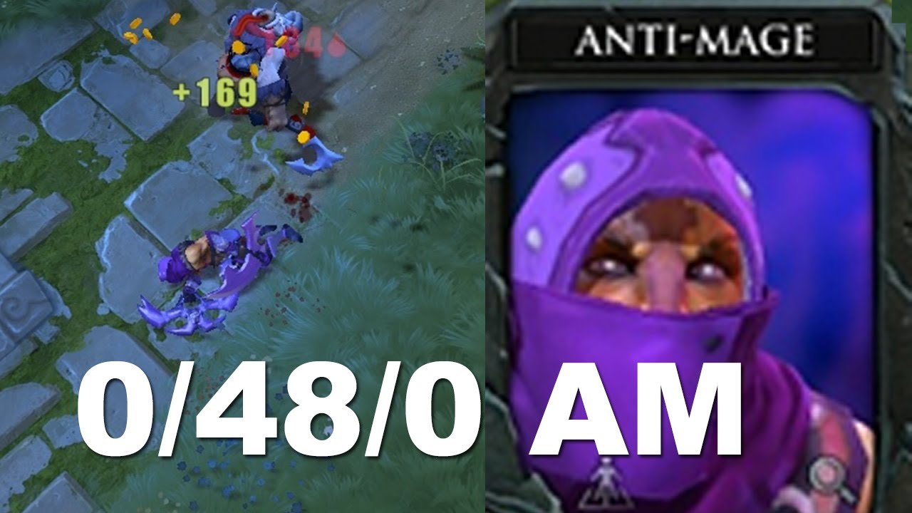 0 48 0 tryhard feeding 6000 mmr anti mage dota 2 youtube