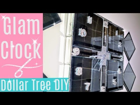 DIY Mirrored Clock with Dollar Tree Items | DIY Wall Decor | Room Decor | DIY Glam Mirror | Upcycle