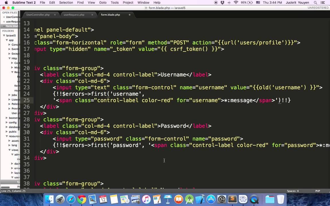 Laravel5.1 Register Form - YouTube