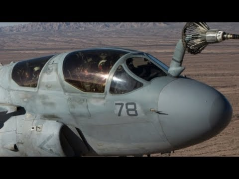 EXTREMELY LOW ALTITUDE refuel of an EA-6B PROWLER! (Rare and STUNNING HD footage!)