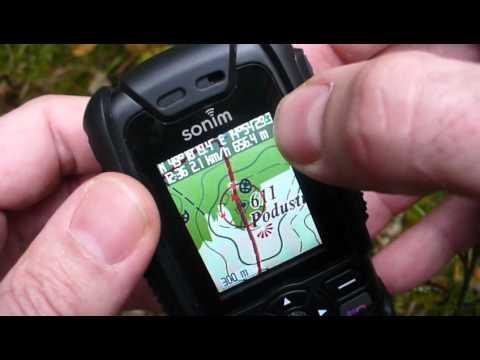 Sonim XP3 Quest (Pro) a offline GPS navigace TrekBuddy