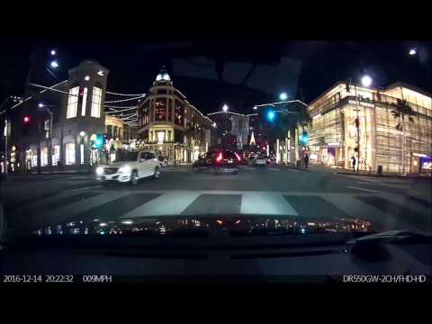 Beverly Hills in Christmas Lights! Driving Through World-Famous Fashion Street Rodeo Drive. Tour
