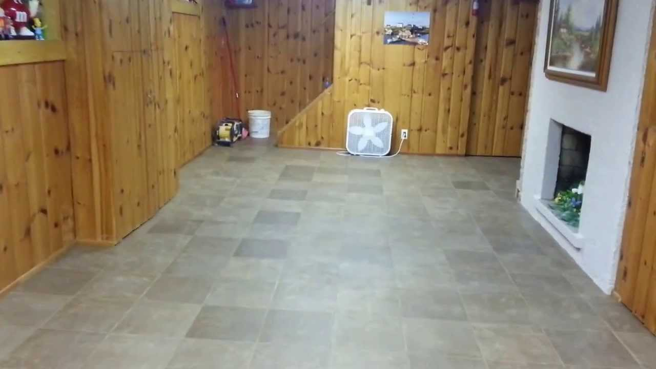 13x13 Tile Floor Installation Chili Ny Youtube