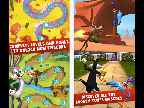 Looney Tunes! Серия 30! Собрать 3 звезды! Веселая игра про Багз Банни