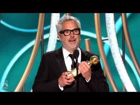 Alfonso Cuarón gana como mejor director en los Golden Globes 2019 por Roma
