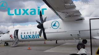 Luxair Bombardier Q400-Dash 8 Economy Flightreport Luxembourg-London City I Frequent Flyer