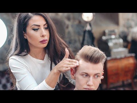 TALENTED Female Barber - Kochi Inspired Haircut. Men's Hairstyle