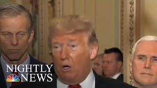 Donald Trump Talks Shutdown On Capitol Hill As Republican Resolve Starts To Waver | NBC Nightly News