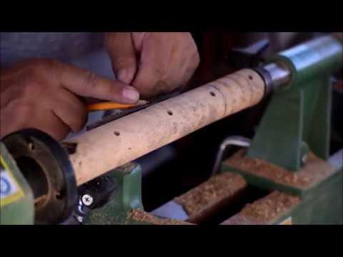 Sindora burl wood firesteel and striker handles for Redneck Renegade.