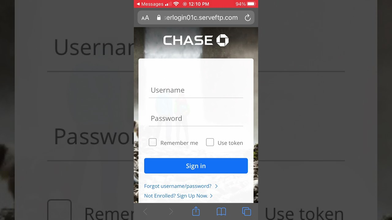 Beware logging into Chase bank thru a random text alert 🚨 or any bank for that matter hackers hack