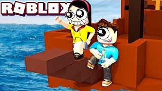 Will Our Ship Sail? - Roblox Build a Boat for Treasure with MicroGuardian - DOLLASTIC PLAYS!