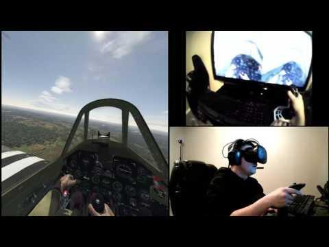 Virtual Reality - HTC Vive - Flight Simulator - War Thunder |