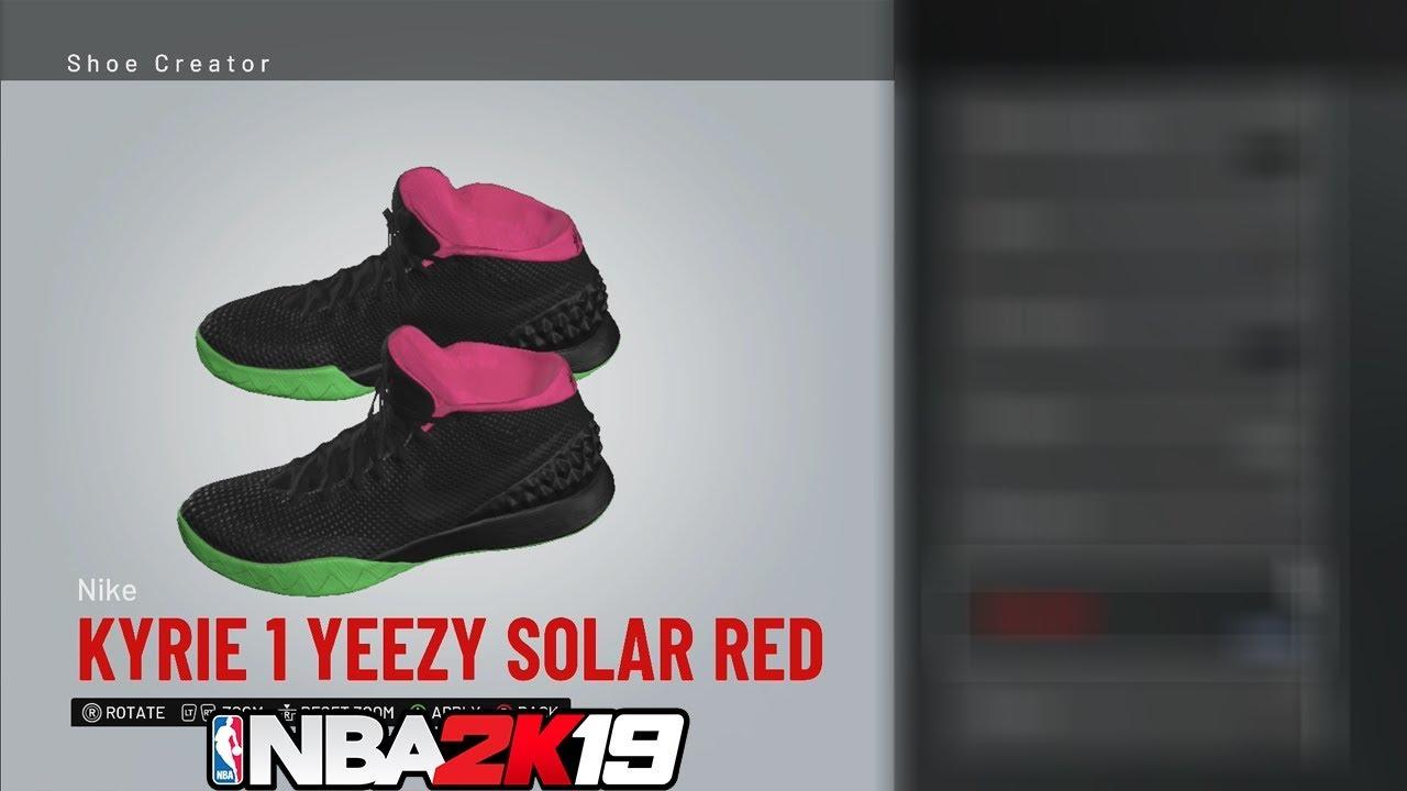 NBA 2K19 Shoe Creator Kyrie 1 Yeezy