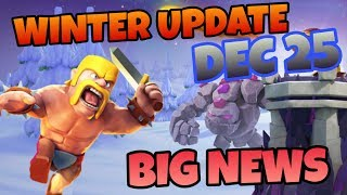 CLASH OF CLANS NEW UPDATE 2018 WINTER | RED TOWNHALL, BET SPELL, NEW TROOPS, NEW HEROS
