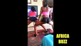 NICE AFRICAN BLACK GIRLS TWERK AT HOME