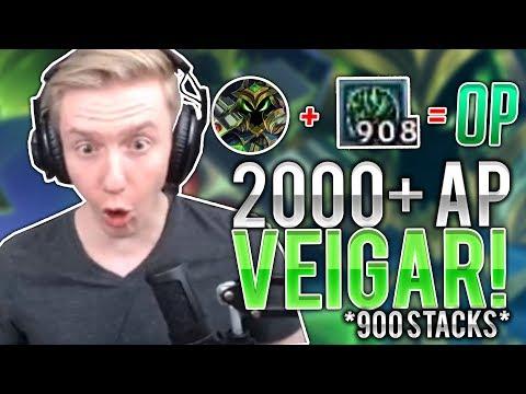 INSANE 2000+ AP VEIGAR GAME [900+ stacks] ft. gate