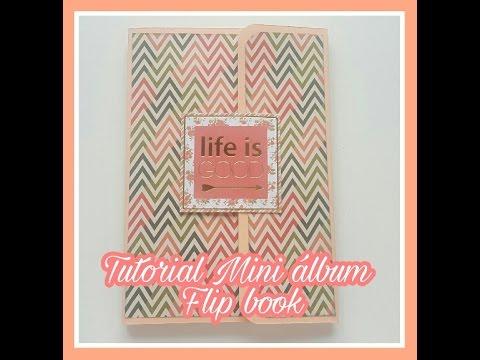 Tutorial scrapbooking: Mini album/ flip book