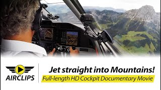 Pilatus PC-24 AirClips Star Uli test-flying PC-24 jet low level through the Alps, 3 full flights