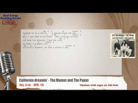 California Dreamin' - The Mamas & The Papas Vocal Backing Track with chords and lyrics