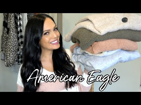 AMERICAN EAGLE AERIE SWEATER TRY ON | AMERICAN EAGLE CLOTHING 2019