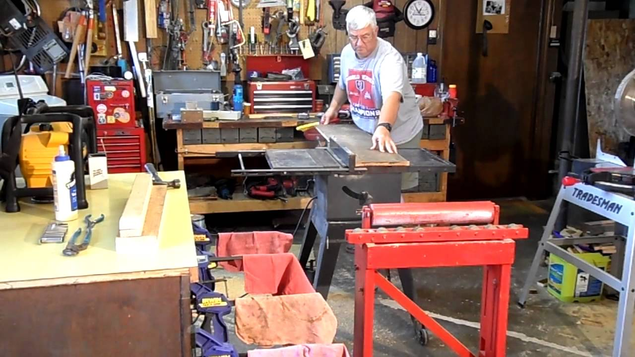 Homemade Table Saw Roller Extension Stand Youtube