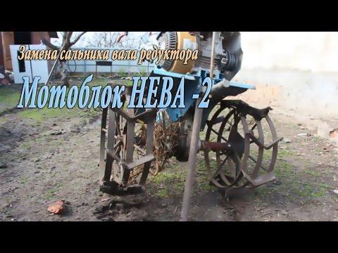 Замена сальника редуктора мотоблок Нева - 2