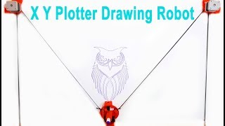 How To Make XY Plotter Drawing Robot with Arduino