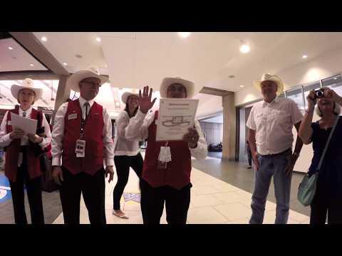 POV Of World Famous Calgary White Hat Ceremony, YYC 4k