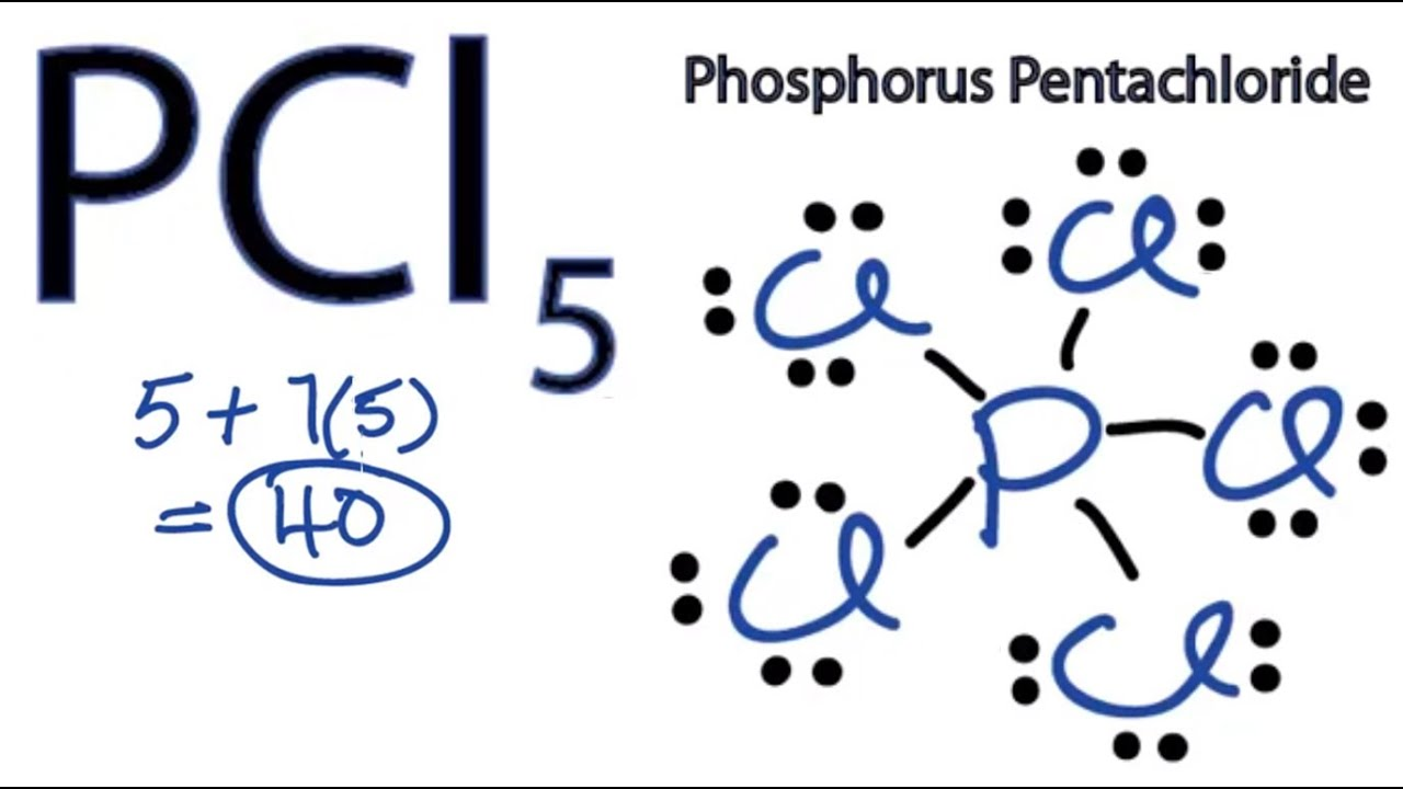 Pcl5 Lewis Structure How To Draw The Lewis Structure For Pcl5