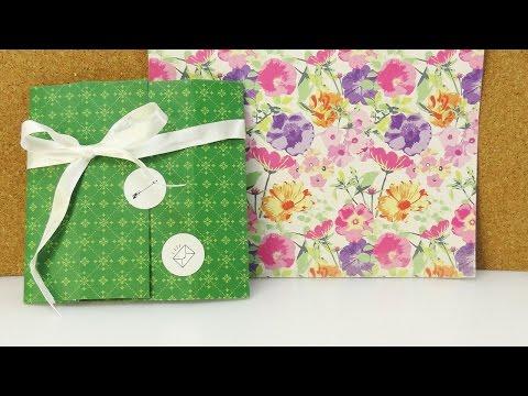 DIY Karte & Schachtel in einem | Coole Geschenk Verpackung einfach selber machen | Idee Geburtstag