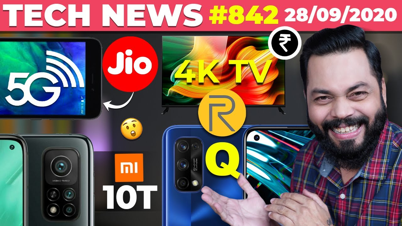 Jio 5G Phone Coming,realme 4K TV Price,realme Q Launch,Mi 10T Full Specs,vivo V20 ????????Launch-#TT
