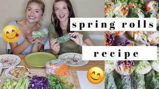Making 100 Spring Rolls! Recipe Video