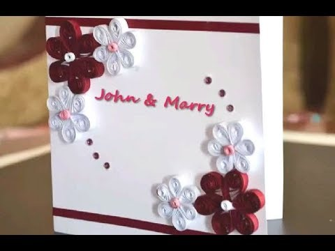 How to make a Greeting Quilling Card | DIY Wedding Paper Crafts Ideas