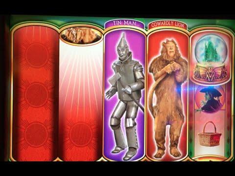 WIZARD OF OZ ~ Ruby Slippers ✦LIVE PLAY✦ w Bonus! Las Vegas Slots