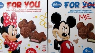 Disney Mickey & Minnie Mouse Chocolate - For You & For Me