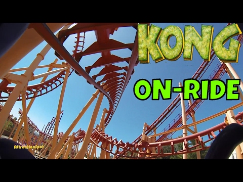 Kong On-ride Front Seat (HD POV) Six Flags Discovery Kingdom