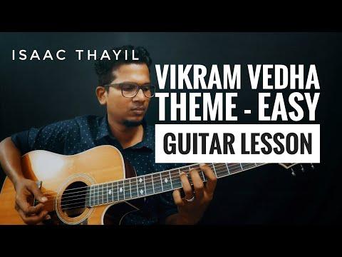 Vikram Vedha Lesson-Theme | Easy Intro Guitar Lesson | Isaac Thayil |Sam C.S | BGM|Vijay Sethupathi