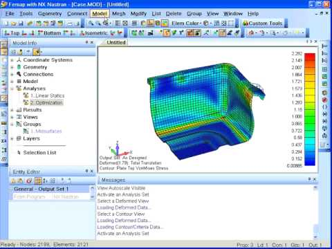 FEMAP - Analysis - Design Optimization - Szczegóły