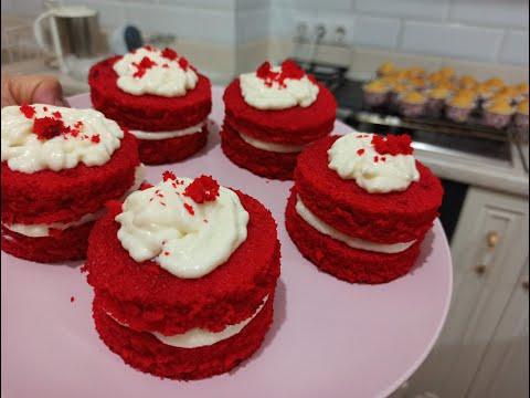Красный бархат пирожные/Десерт на новый год/ red velvet