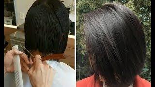 How To Cut A Soft Blunt Bob Haircut - Soft bob women&#39s haircut