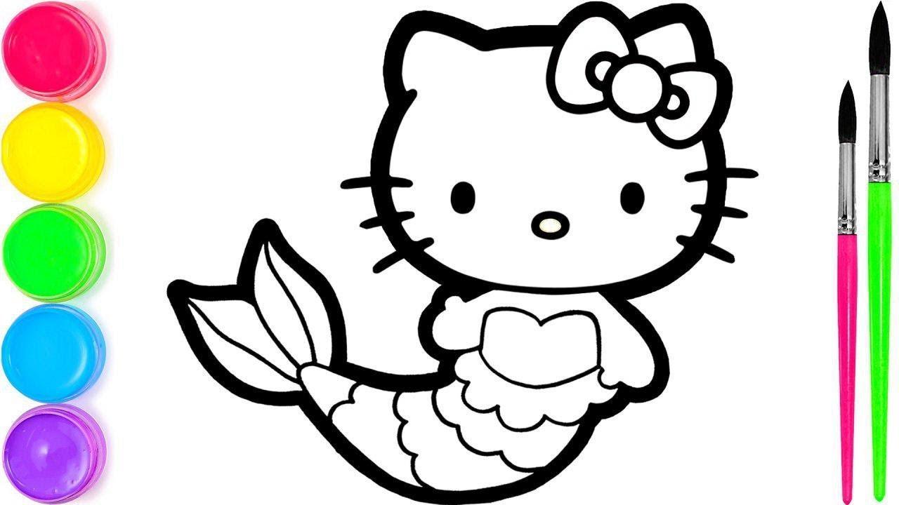 Hello Kitty I 2 Menggambar Dan Mewarnai Untuk Anak Anak