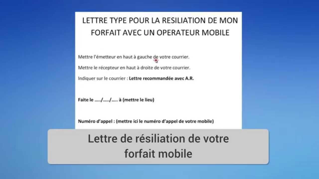 avis lettre resiliation free lettre type