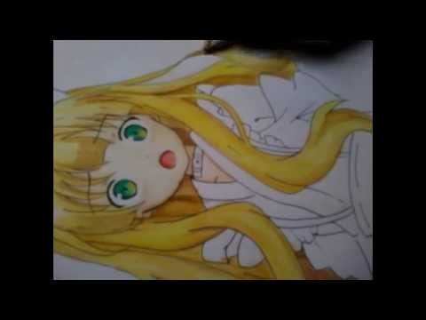 Coloring Anime Using Color Pencils Hair And Eyes Youtube