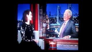 Sarah Paulson on LATE SHOW with David Letterman - 10-07-2014