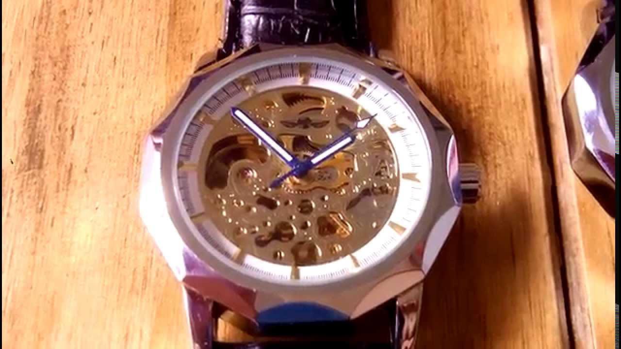265d69b9ee3 Relógio Winner Skeleton Automático - YouTube