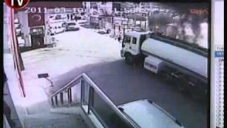 Brave Man drives burning Petrol Tanker away from neighborhood