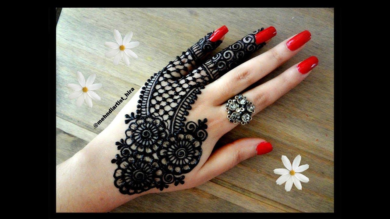 Beautiful Trendy Stylish Indo Arabic Unique Stylish Simple Latest Henna Mehndi Designs For Hands Eid