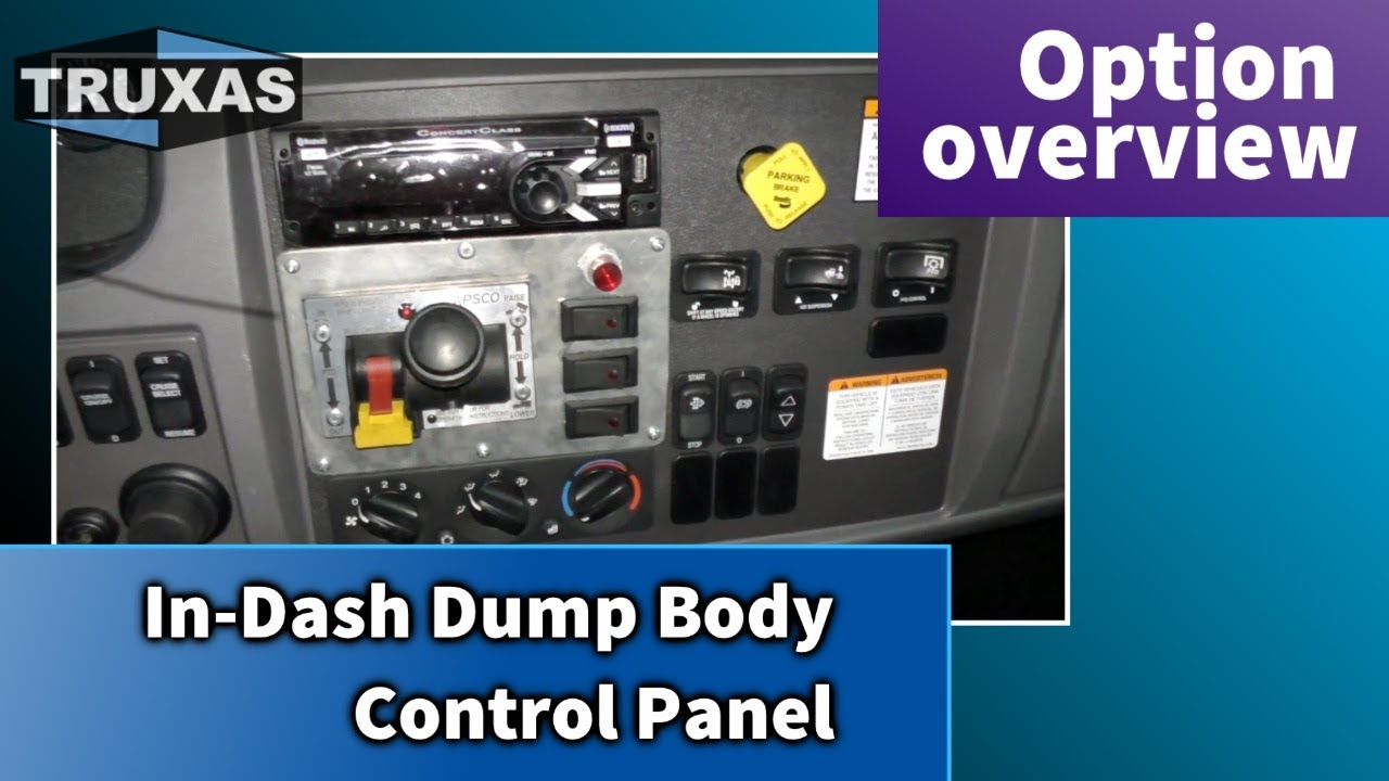 In-Dash Dump Body Control Panel - Option overview