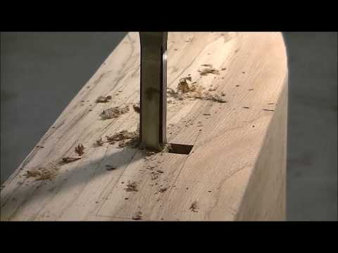 Drilling a square hole? Mortise and tenon joint. Building furniture.
