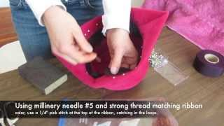 Sewing in a Head Size Millinery Ribbon with Jasmin Zorlu